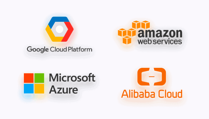 Core features of the largest cloud providers