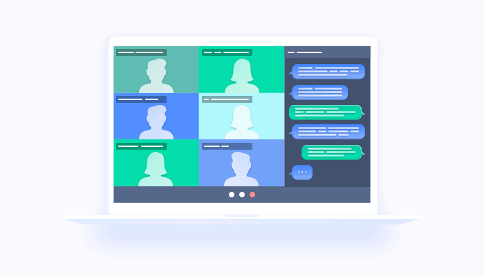 Web-chat for virtual events