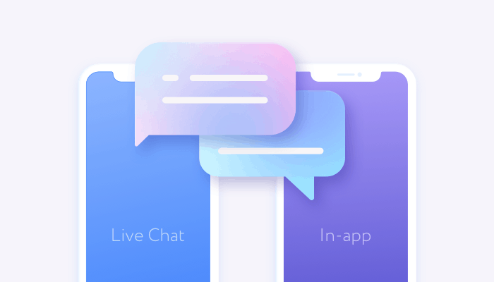 Live chat vs in-app messaging